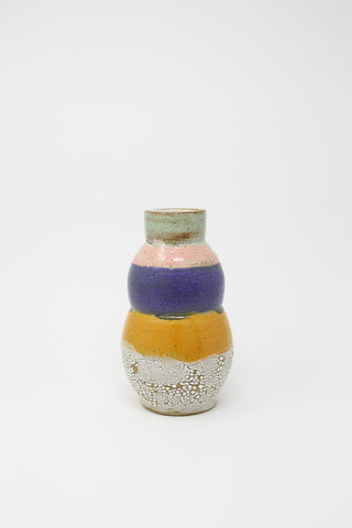 Raina Lee Totem Vase in Orange/Purple/Pink | Oroboro Store | New York, NY