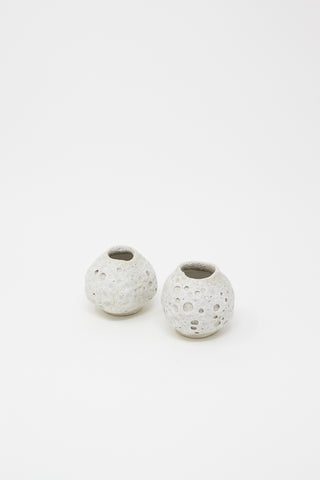 Raina Lee Mini Moonjar in White II | Oroboro Store | New York, NY