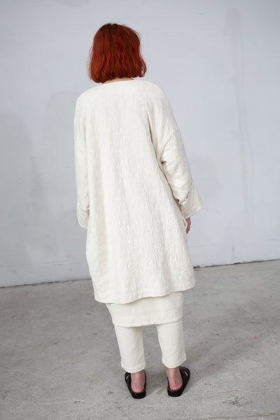 Black Crane Coat in Cream | Oroboro Store | New York, NY