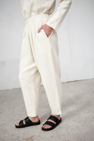 Black Crane Carpenter Pant in Cream | Oroboro Store | New York, NY