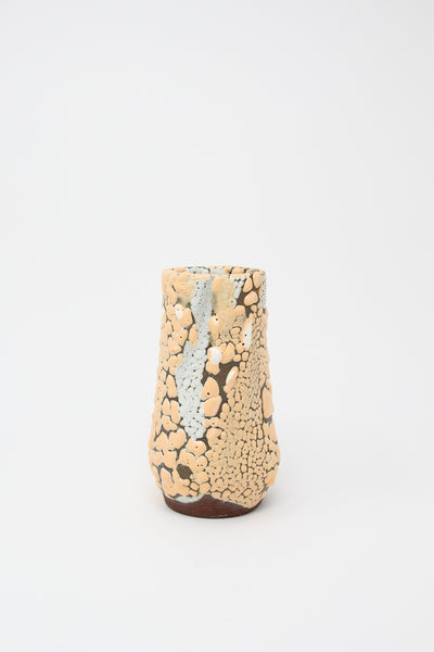 Raina Lee Taper Vase in Orange Creamsicle | Oroboro Store | New York, NY