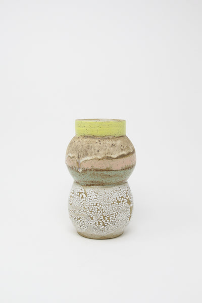 Raina Lee Totem Vase in Yellow/Pink/Blue Multi | Oroboro Store | New York, NY