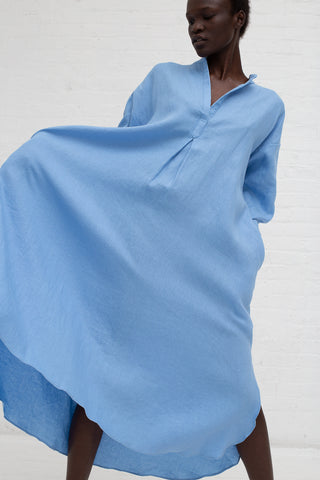 Rachel Craven Kurta Dress in Cerulean Blue | Oroboro Store | New York, NY