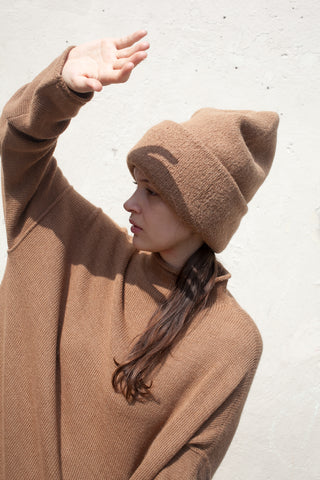 Lauren Manoogian Carpenter Hat in Camel | Oroboro Store | New York, NY
