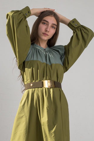 Sofie D'Hoore Voila Belt in Khaki on model view