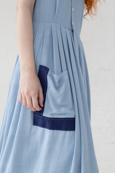 Visvim Pipa Sleeveless Dress in Light Blue | Oroboro Store | New York, NY