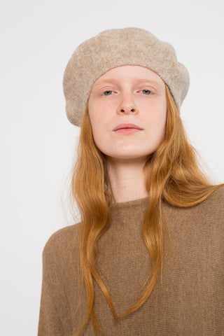 Lauren Manoogian Horizontal Beret in Bale | Oroboro Store | New York, NY