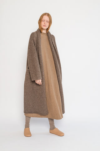 Lauren Manoogian Long Shawl Cardigan in Mushroom | Oroboro Store | New York, NY
