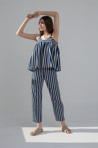 AVN Stripe Cotton Top in Stripe on model view front