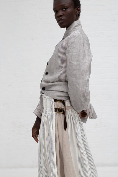 Hallelujah Kilt Stripe in Off-White | Oroboro Store | New York, NY
