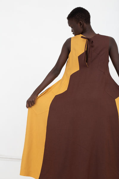 Eatable of Many Orders Queen Bee Dress in Honey/Earth | Oroboro Store | New York, NY