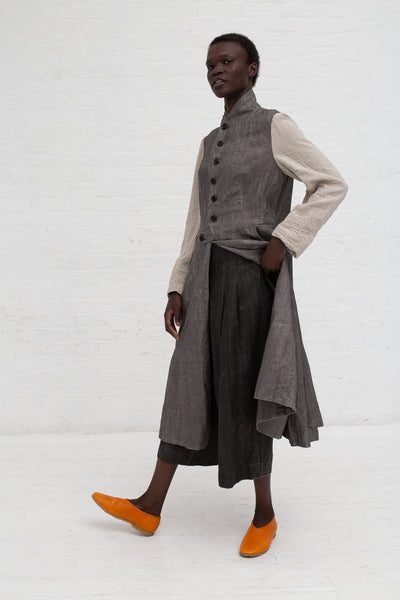 Hallelujah Manteau de Pompier 1800's in Charcoal/Flax | Oroboro Store | New York, NY