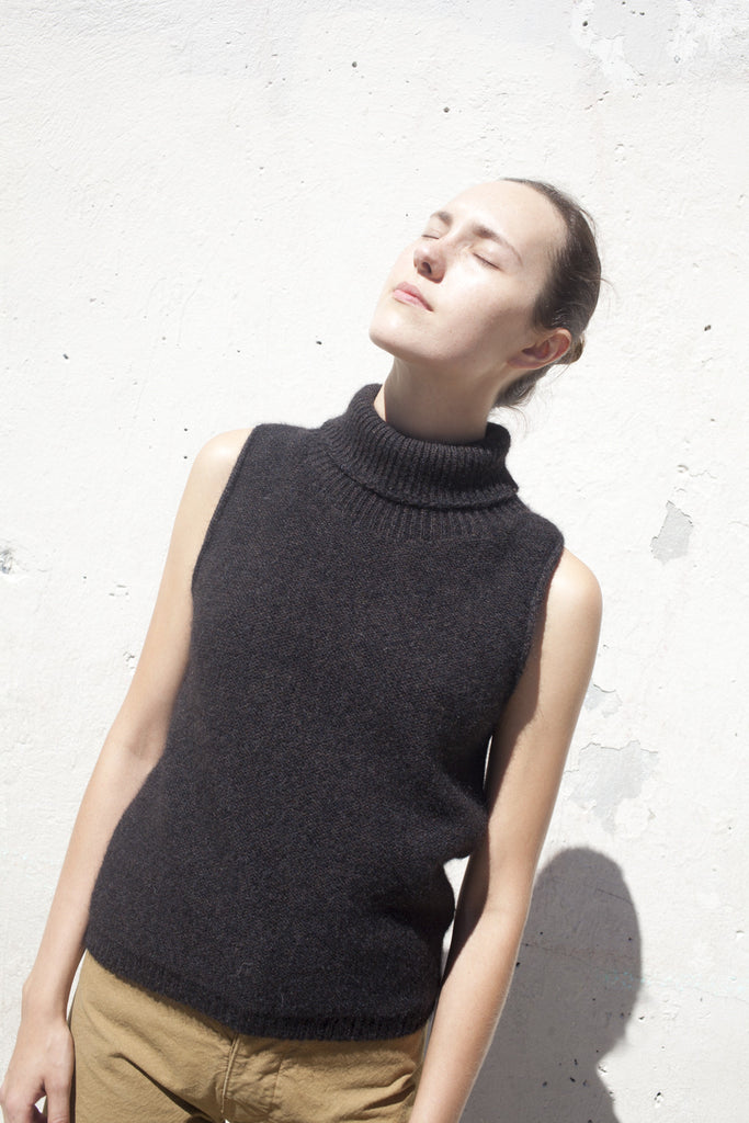 Base Range Sahar Turtle Knit in Black Melange | Oroboro Store | Brooklyn, New York