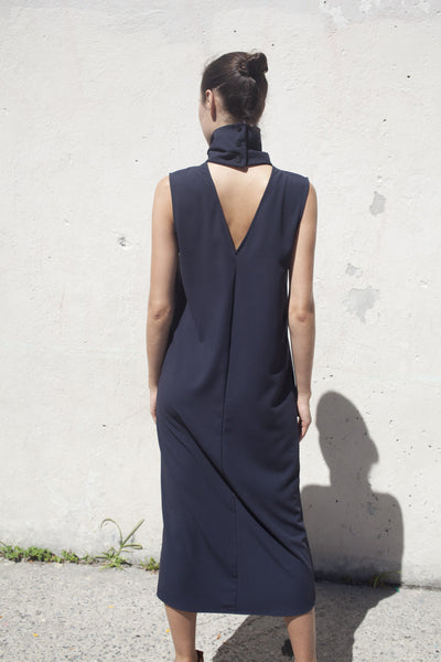 Jesse Kamm Stack Dress in Navy