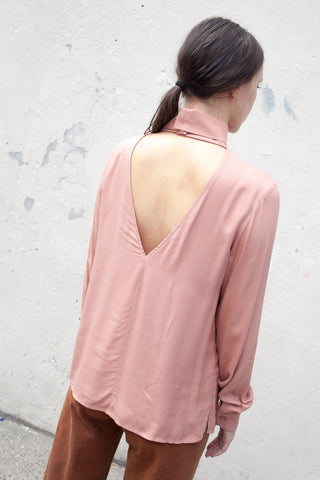 Long Sleeve Stack Top in Desert Rose