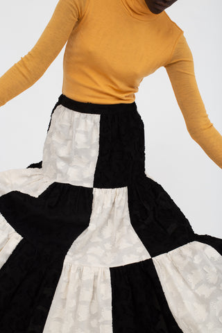 Eatable of Many Orders Rowana Jacobsen Skirt in Black/Natural | Oroboro Store | New York, NY