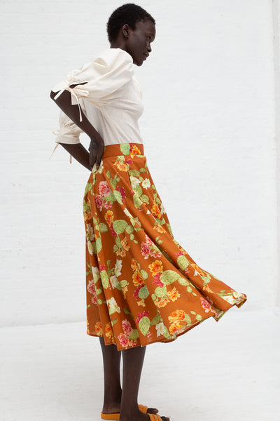 Beatrice Valenzuela Riding Skirt in Adobe | Oroboro Store | New York, NY
