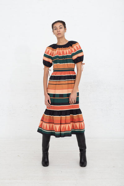 Ulla Johnson Ayita Dress in Pine, Front View Full Body