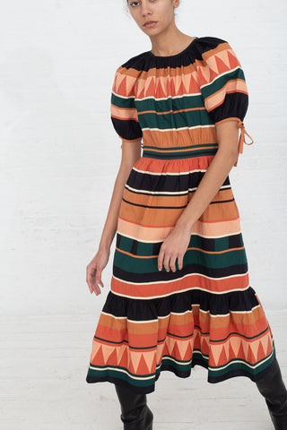 Ulla Johnson Ayita Dress in Pine, Front View, Oroboro Store, New York, NY