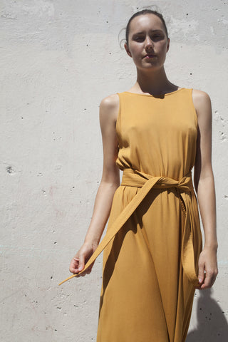 Jesse Kamm Palma Dress in Gold | Oroboro Store | Brooklyn, New York