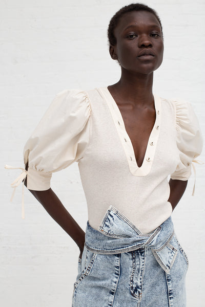 Ulla Johnson Pia Top in Oatmeal | Oroboro Store | New York, NY