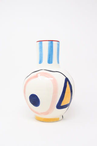 LRNCE Ceramic Vase 5 in Multi View of Front, Oroboro Store, New York, NY