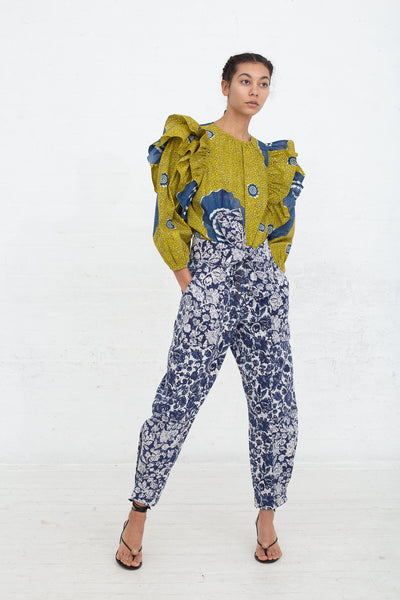 Ulla Johnson Storm Jean in Floral Patchwork, Front View Full Body