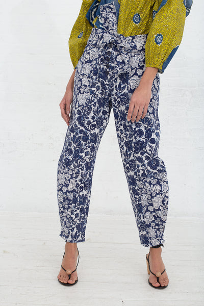 Ulla Johnson Storm Jean in Floral Patchwork, Front View Cropped at Waist, Oroboro Store, New York, NY