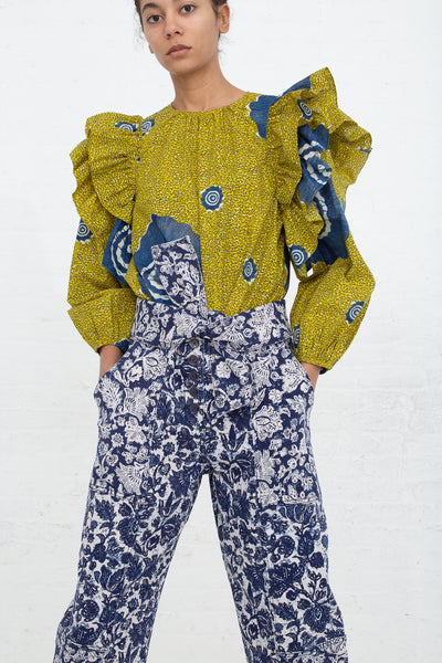 Ulla Johnson Storm Jean in Floral Patchwork, Front View Hands in Pockets
