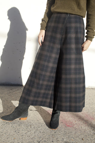 Samuji Fairlei Trousers in Flat Plaid | Oroboro Store | Brooklyn, New York