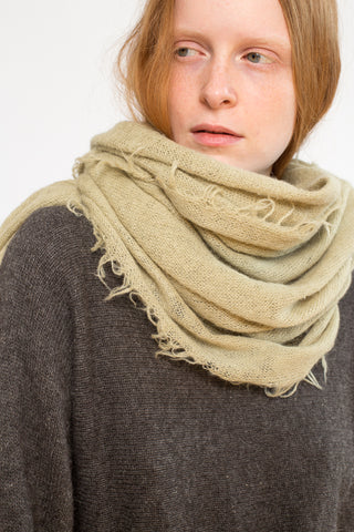Lauren Manoogian Fringe Scarf in Willow | Oroboro Store | New York, NY