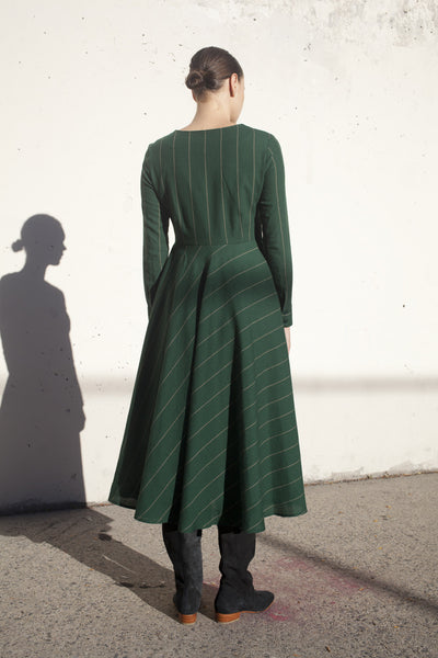 Ceinlis Dress in Green Ecru