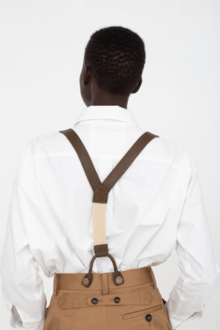 Eatable of Many Orders Suspender in Khaki | Oroboro Store | New York, NY