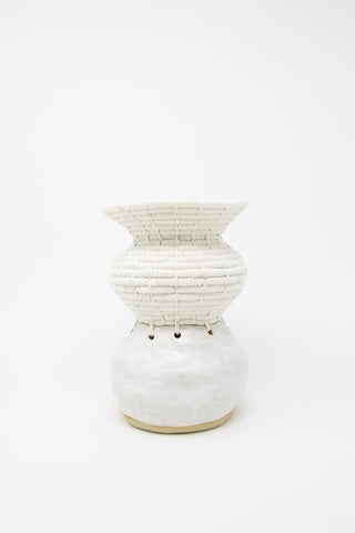 Karen Tinney One of a Kind Vessel #658 in White, Oroboro Store, New York, NY