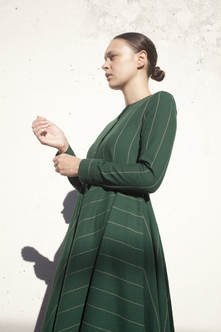 Samuji Ceinlis Dress in Green Ecru | Oroboro Store | Brooklyn, New York
