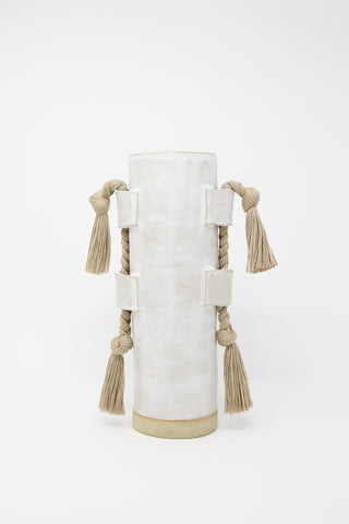Karen Tinney Vase #504 in White/Natural, Oroboro Store, New York, NY