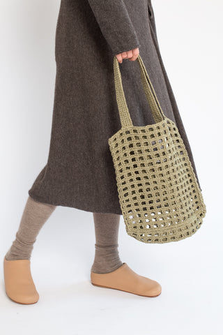 Lauren Manoogian Paper Net Bag in Herb | Oroboro Store | New York, NY