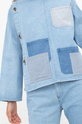 Caron Callahan Mila Smock in Denim | Oroboro Store | New York, NY