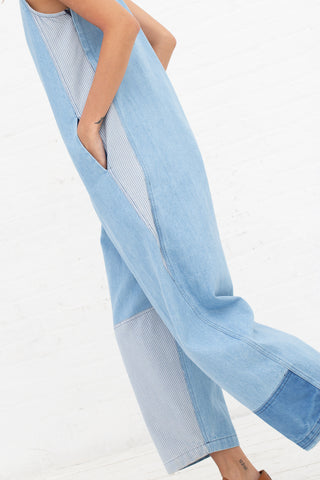 Caron Callahan Crista Jumpsuit in Denim | Oroboro Store | New York, NY