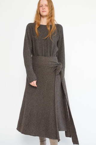 Lauren Manoogian Tie Skirt in Barnwood | Oroboro Store | New York, NY