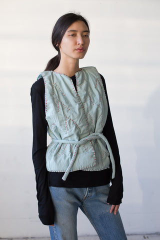CMC Quilted Vest in Blue | Oroboro Store | New York, NY