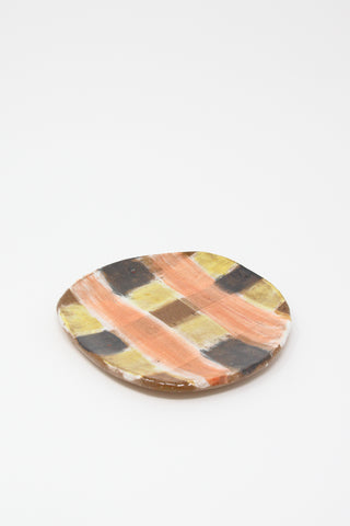 Shino Takeda Plate in Checker Black , Oroboro Store , New York, NY