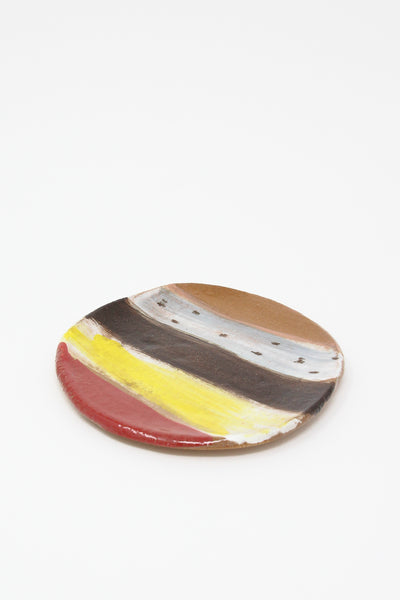Shino Takeda Plate in Earth Stripes Yellow , Oroboro Store , New York, NY