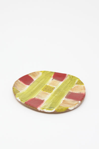 Shino Takeda Plate in Checker Red , Oroboro Store , New York, NY