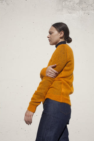 Samuji Qiana Sweater in Orange | Oroboro Store | Brooklyn, New York