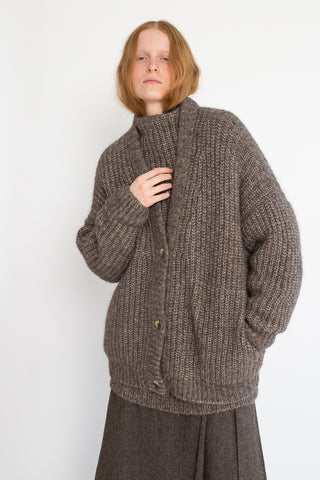 Lauren Manoogian Grandma Cardigan in Barnwood | Oroboro Store | New York, NY