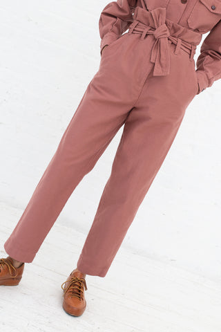 Caron Callahan Dover Pant in Rose, Front View Cropped At Waist, Oroboro Store, New York, NY