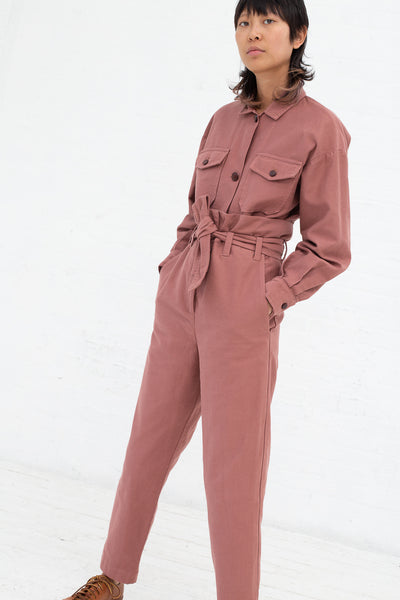 Caron Callahan Dover Pant in Rose, Front View Full Body Hands in Pocket