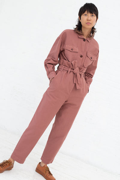Caron Callahan Dover Pant in Rose, Front View Full Body