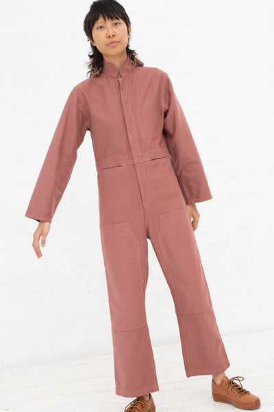 Caron Callahan Fincher Jumpsuit in Rose, Front View Full Body